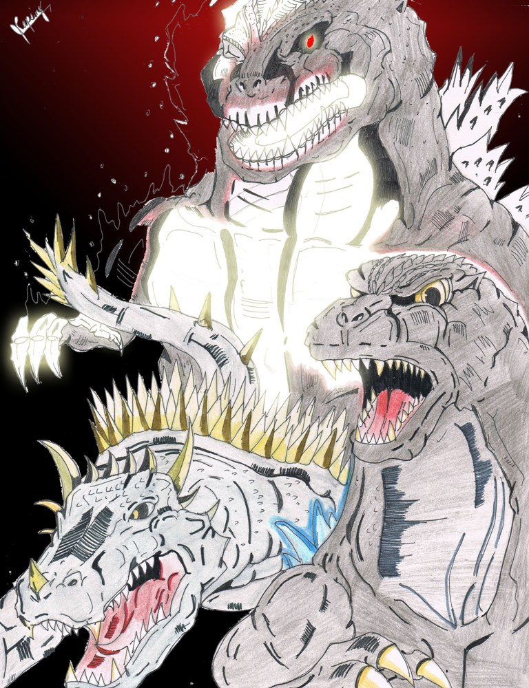 Lost Project: Godzilla vs Ghost Godzilla by AVGK04