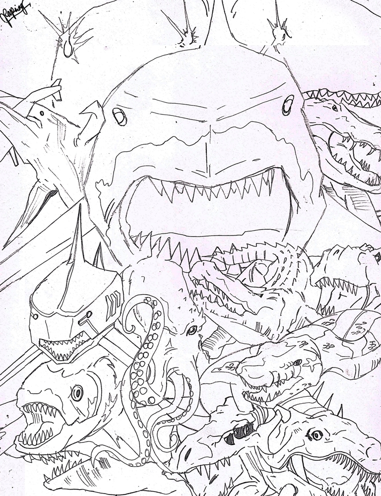Sharktopus Page Coloring Pages