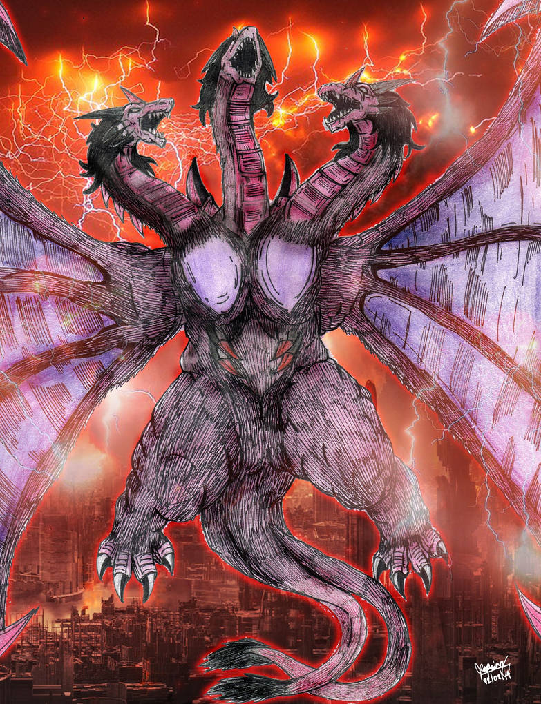 Godzilla Battle Royale: Queen Ghidorah by AVGK04 on DeviantArt