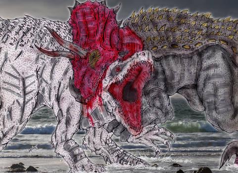 Saurian Collision: Indominus Rex Vs. Ultimasaurus