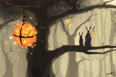 Lighting up the forest by Medhi
