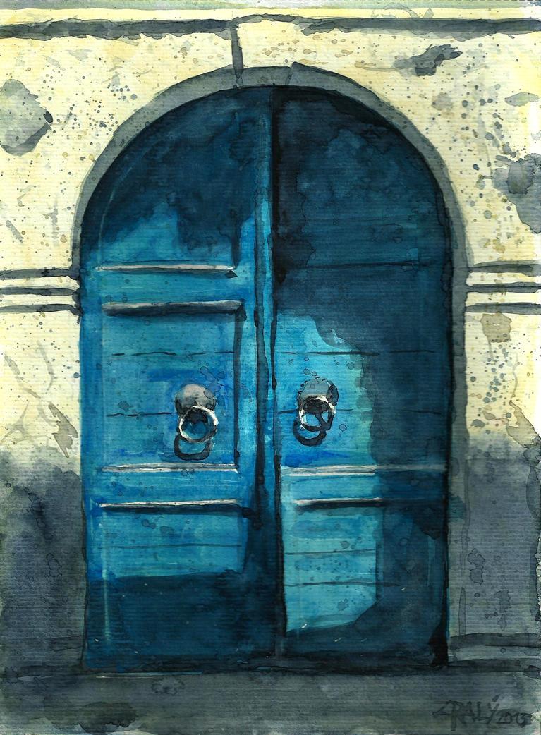 Old blue doors by Medhi on DeviantArt