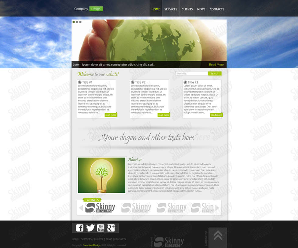 Clear company webdesign by SkinnyDesigns