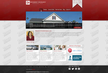 Website design for Provident and Insurance Agency by SkinnyDesigns