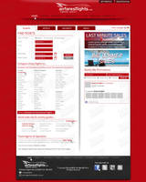 Airfares Flights's webdesign by SkinnyDesigns