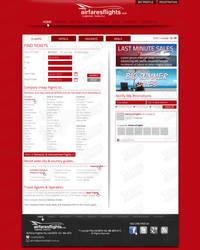 Airfares Flights's webdesign