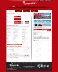 Airfares Flights's webdesign by SkinnyDesigns