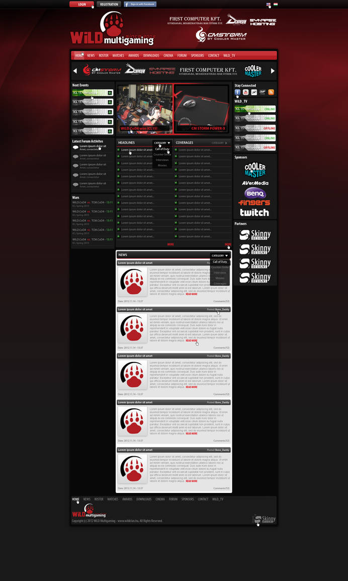 WiLD Multigaming webdesign by SkinnyDesigns