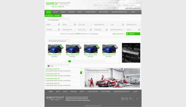 World Auto Search website design