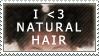 Natural Hair Stamp by MangoButta