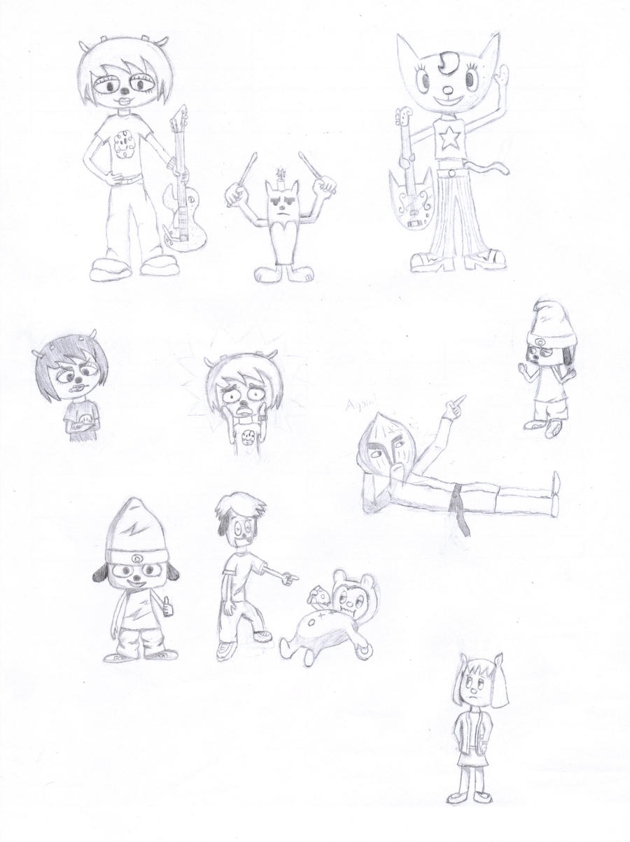 parappa the rapper doodles by circuitdc on deviantart