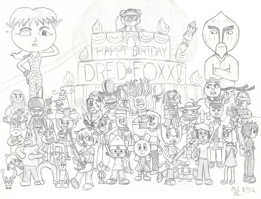 Happy Birthday Dred Foxx by CircuitDC