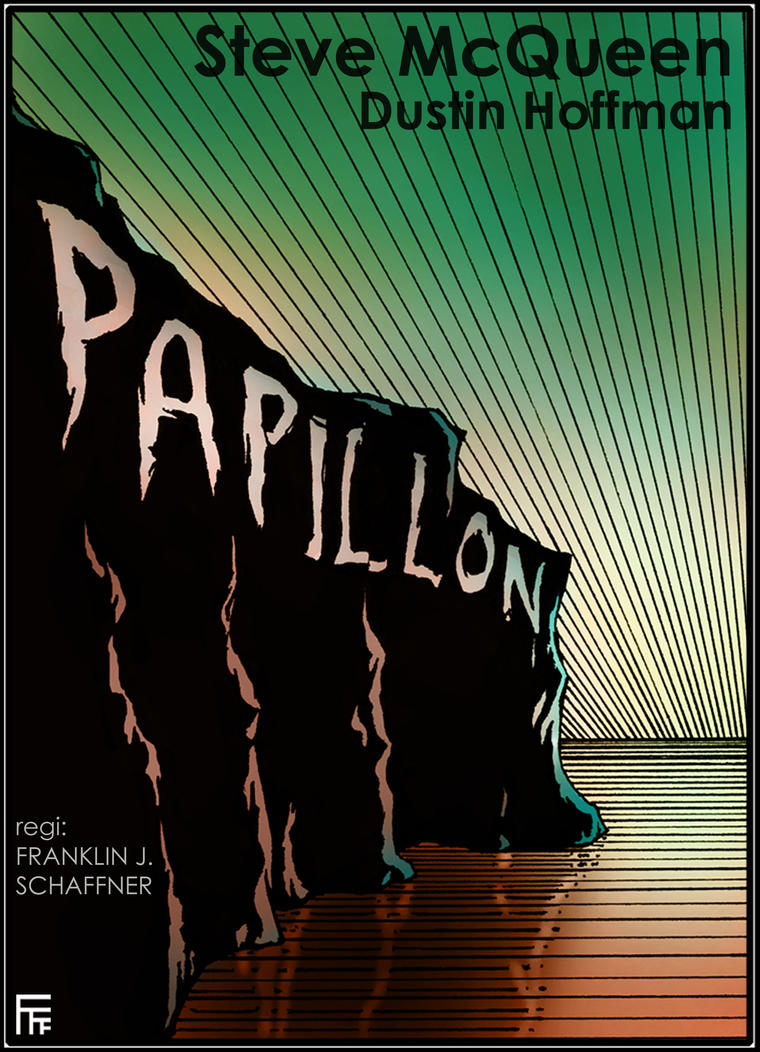 Papillon movie poster by Alfvag