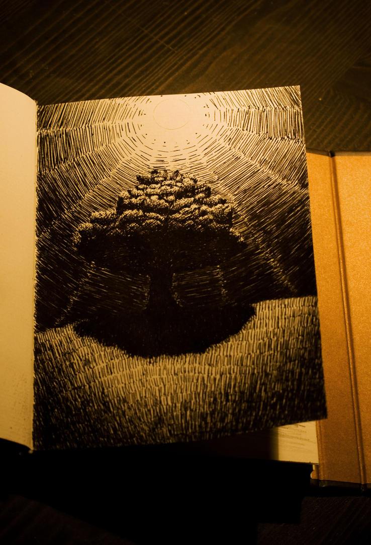 Contrast ink sketch by Alfvag