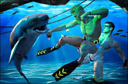 Shark Attack by SereneNight1