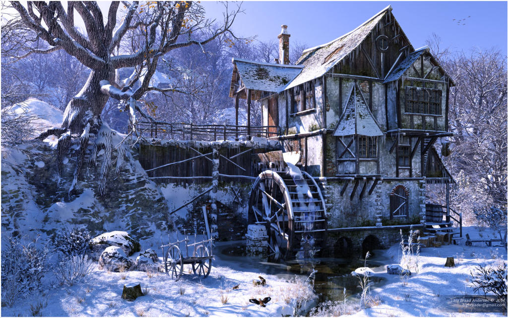Watermill In Winter Mood By Neanderdigital On Deviantart