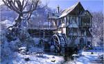 Watermill in Winter Mood