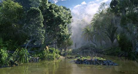 Jungle River by neanderdigital