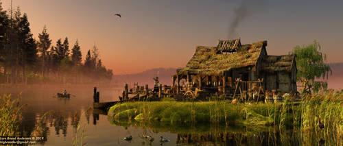Misty Medieval Lake