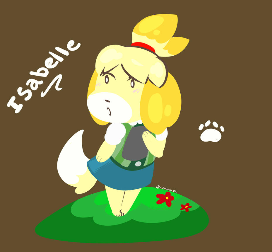 Isabelle Animal Crossing by lobaluna02