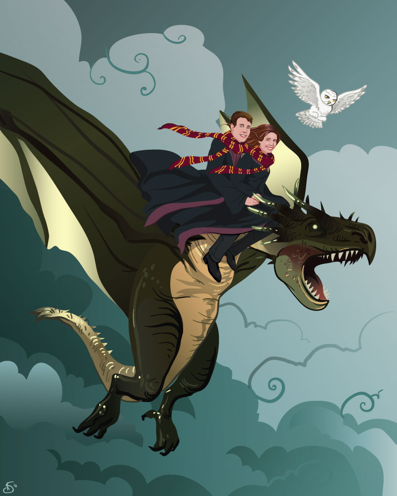 HP Dragon Portrait by hexacosm
