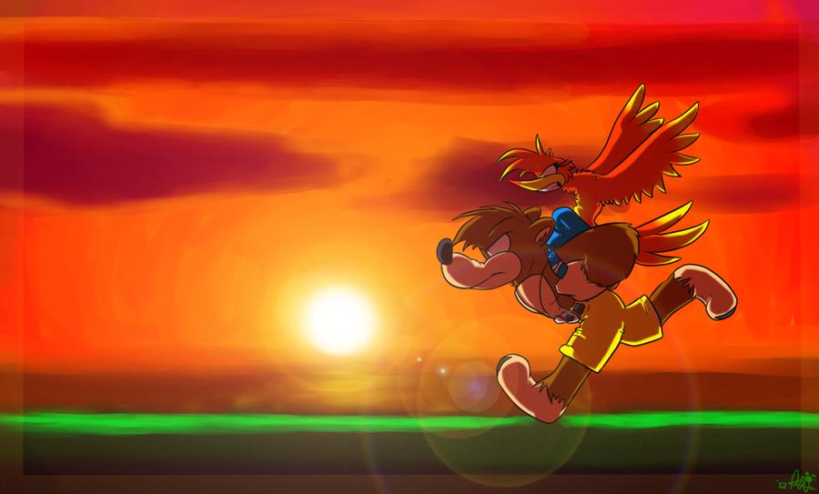 Sunset Run by Wolfiisaur