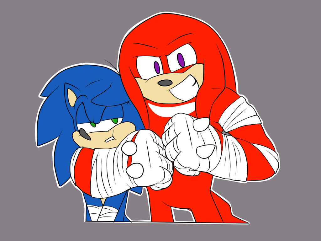 Sonic And Knux Flat by SilverSonic44