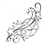 tattoo stars by DianiGonzalez
