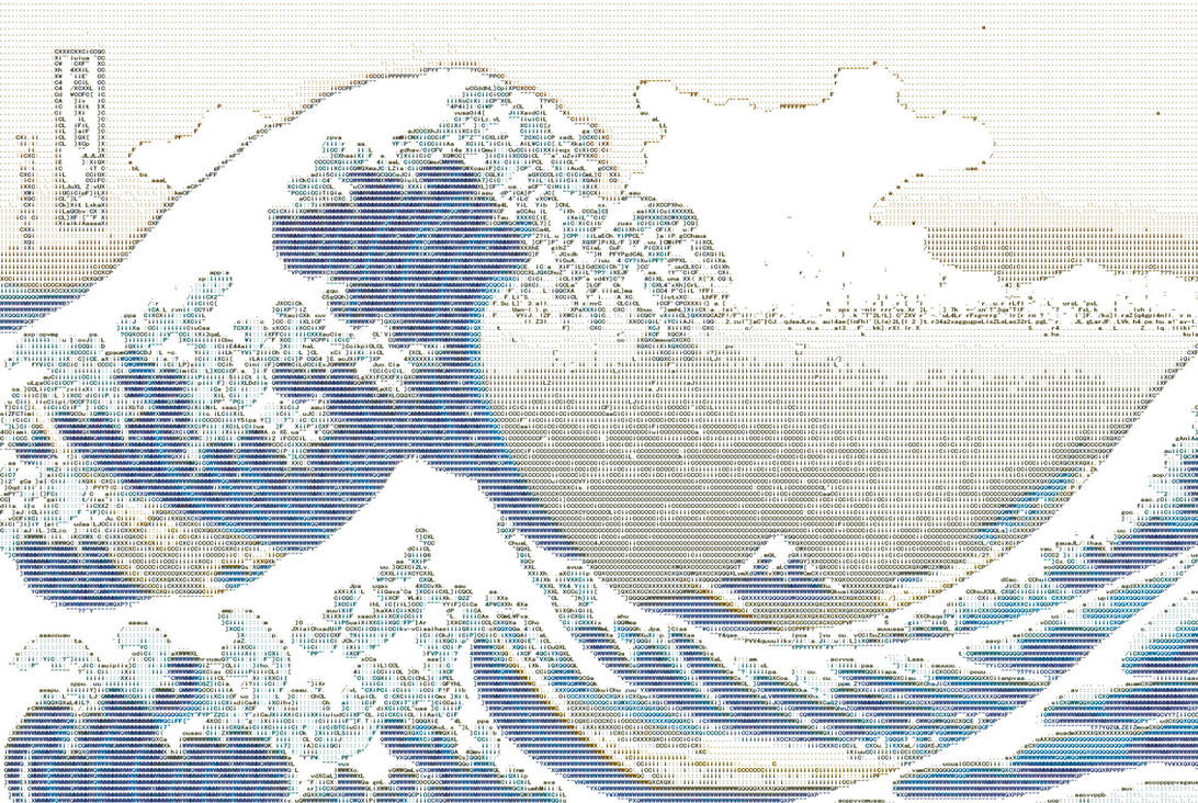 The Great Wave off Kanagawa ASCII by Otone