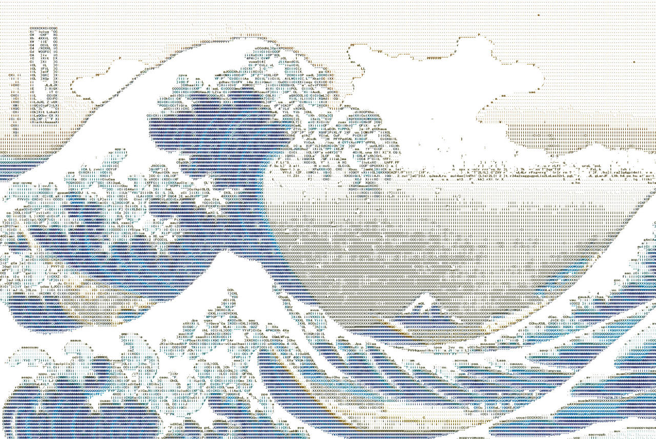 The Great Wave off Kanagawa ASCII by Otone