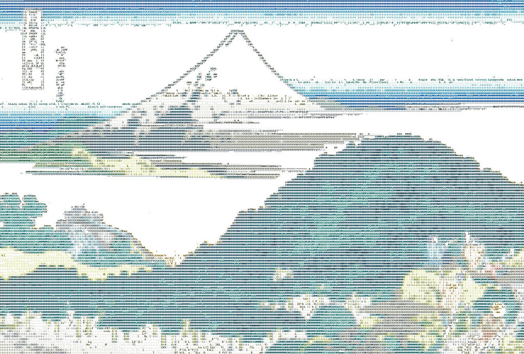 The Circular Pine Trees of Aoyama ASCII by Otone