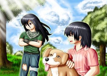 Pumpkin Online Fanart: Pete and Kaine by Daisetsu-bushido