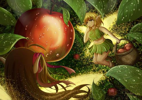 Elfen und Apfel