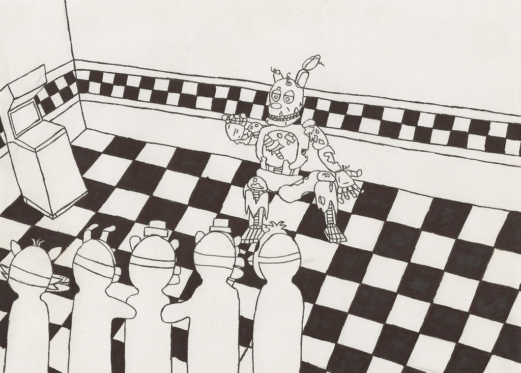 Fnaf 3 springtrap death beginning lineart by subject for Fnaf coloring pages springtrap