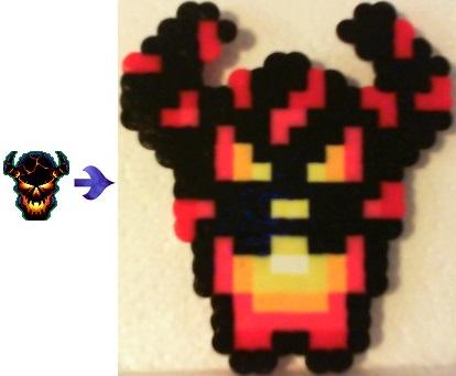 Wearable Pixel Art Lava Skull by TrinketSphinx on deviantART