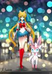 Day 183 - Nymphia   Sylveon and Sailor Moon by AutobotTesla