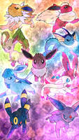 Commission 38 - 'Apr 15 - Eeveelution Brigade by AutobotTesla