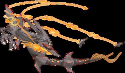 Commission 72a - Shiny Mega Rayquaza Tattoo