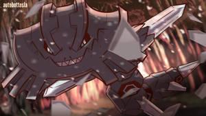 Day 618 B - Mega Haganeil | Mega Steelix by AutobotTesla