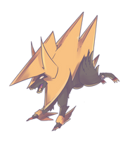 Shiny Mega Laivolt | Manectric Commission by AutobotTesla
