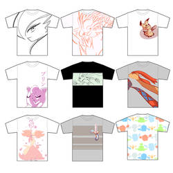 UNIQLO Pokemon Shirt Designs by AutobotTesla