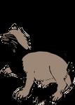 Clipart Mujina(Japanese badger)