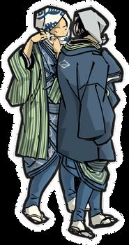 Suspicious men in the Edo-period