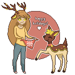 Holiday Deerling by wolf-hat