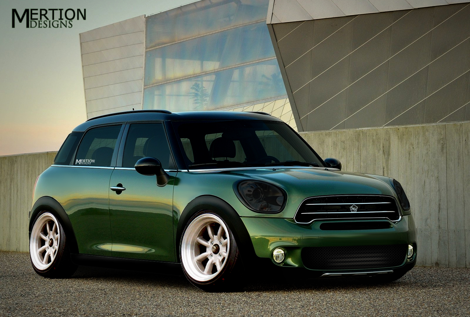 mini countryman virtual tuning by mertiondesigns on deviantart. Black Bedroom Furniture Sets. Home Design Ideas