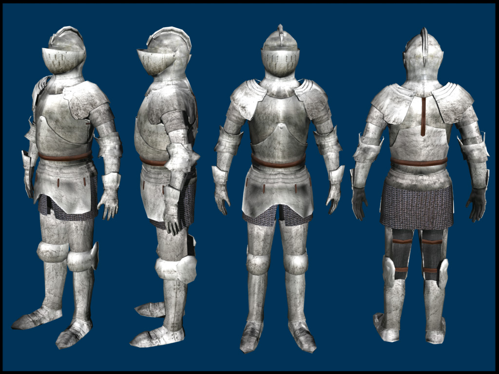 Medieval Knight 3d Model By Caroncc On Deviantart