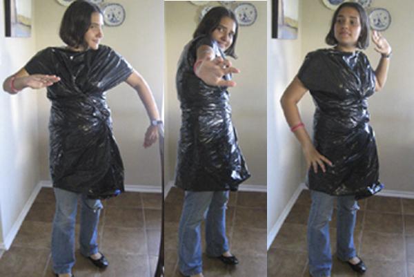 White Trash Bag Trash Bag Dress by