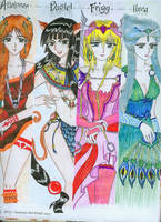 the four goddesses of dioses by ehatsumi