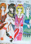 the four goddesses of dioses