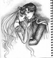 Usagi-chan and Mamoru by SelenaSeleria